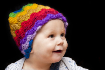 baby with a woolen hat