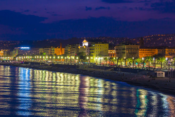 Nice, France. English promenade (Promenade des Angles)