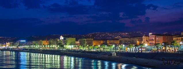 Nice, France. English promenade (Promenade des Angles)