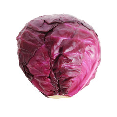red cabbage isolated on a white background