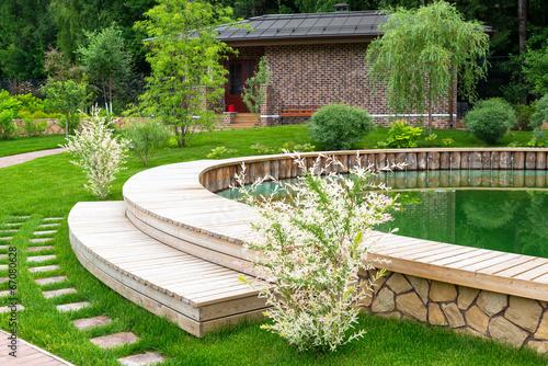 Leinwandbild Motiv Landscaping in home garden