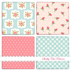 Set of shabby patterns 3