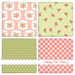 Set of shabby patterns 4