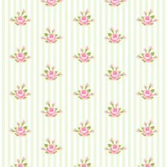 Retro rose pattern 8