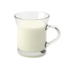 Milk glass with clipping path