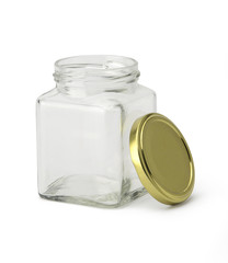 Empty jar with clipping path