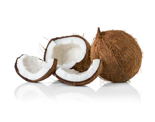 Coconuts. Coco Nut isolated on white Background