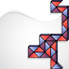Rubik's Snake abstract minimal design