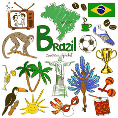 Collection of Brazil icons