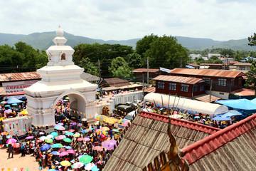 LOEI ,THAILAND-JUNE 28: Ghost Festival or Phi Ta Khon Festival