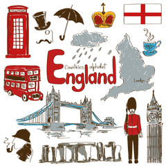 Collection of England icons