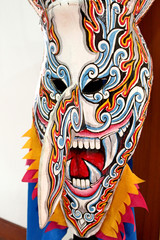 Phi Ta Khon Ghost mask  in Ghosh Mash Festival Phi Ta Khon festi
