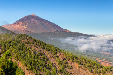The Teide volcano in Orotava Valley, Tenerife