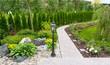 Leinwandbild Motiv Natural landscaping in home garden