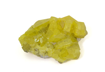 Native sulphur from Sicily, Italy. 9cm across.