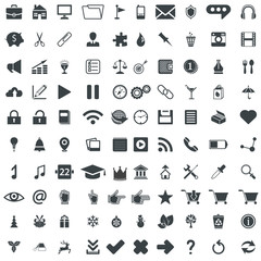 100 universal vector pictograms for web and mobile apps