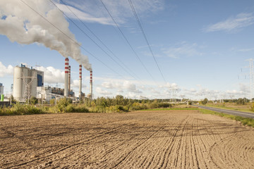 Coal power plant in Patnow - Konin, Poland, Europe.