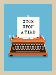 Once upon a time - Retro Typewriter Vector Illustration