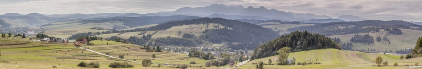 Panoramic view - Pieniny.