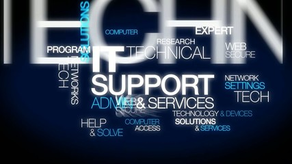 IT Support technical services expert word tag cloud