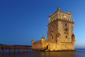 Belem Tower at dusk