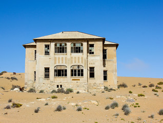 Abandoned house in Kolmanskop, Namibia