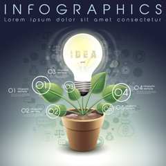 idea bulb potted infographic elements