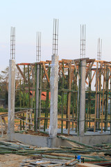 structure of building construction house