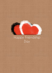 happy friendship day concept, two hearts
