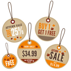 Autumn Retail Labels