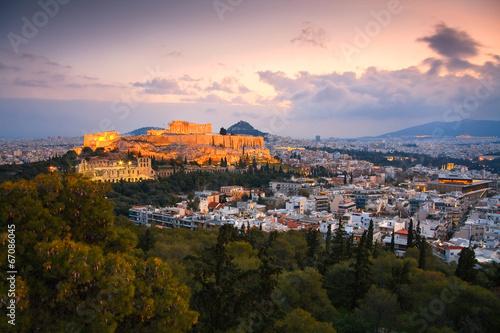 Fotobehang Athene Acropolis as seen from Filopappou Hill, Athens.