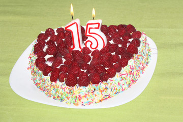 Birthday raspberry cake