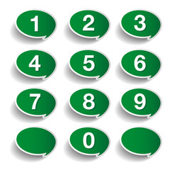 Numbers set. Vector design