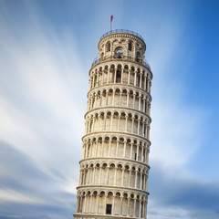 Famous Pisa leaning tower