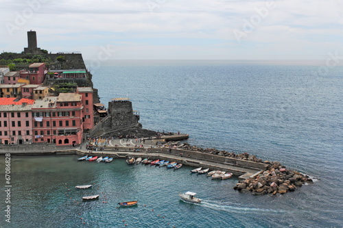 canvas print picture Hafen in Vernazza
