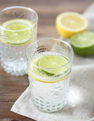 Soft drink with lemon and lime