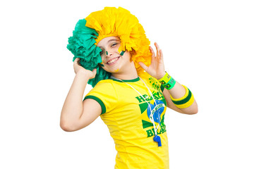 Brazilian teen celebrating
