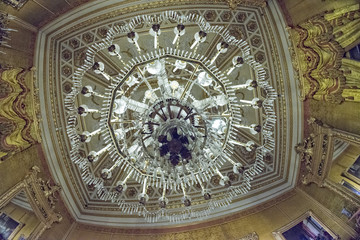 Reneissance building hall chandelier