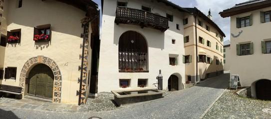 Guarda historisches Ortsbild Pano