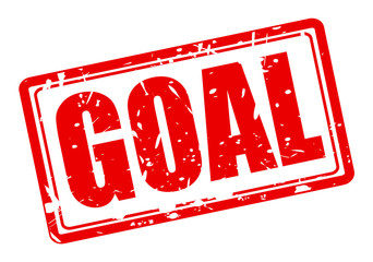 GOAL red stamp text