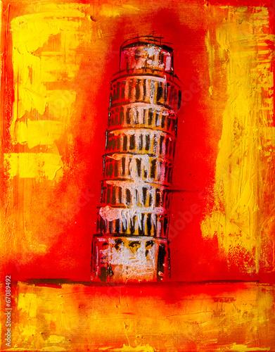 Ölgemälde Gemälde Kunstdruck artprint Kunst pisa © artefacti