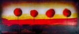 Fotoroleta Baum Bäume  abstrakt Ölgemälde Gemälde Kunstdruck artprint Kunst