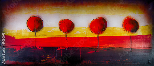Baum Bäume  abstrakt Ölgemälde Gemälde Kunstdruck artprint Kunst - 67090093