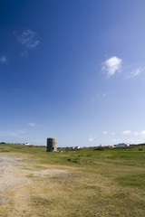 loophole towers on a golf course in Guernsey