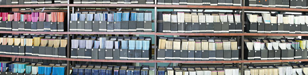 Shelves with scientific journals