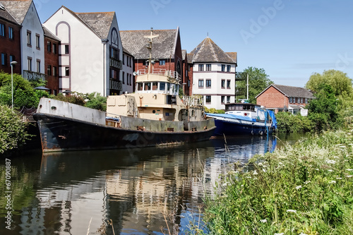 Old Boats along The Exeter Canal - 67090887