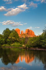 Cathedral Rock at Oak Creek in Sedona Arizona