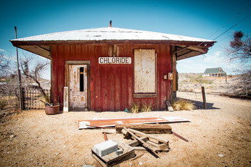 Old Train Depot in Ghost Town