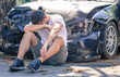 desperate man after car crash