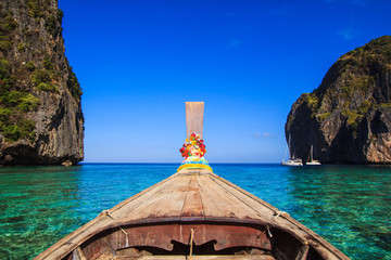 Head of long tail boat at Andaman sea, Thailand